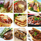 γεύματα κολάζ βόειου κρέ&al στοκ εικόνα με δικαίωμα ελεύθερης χρήσης