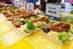 Γεύματα που πωλούνται στο στάβλο αγοράς στη Μαλαισία κατά τη διάρκεια του μήνα Ramadan Στοκ φωτογραφία με δικαίωμα ελεύθερης χρήσης