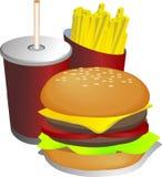 γεύμα απεικόνισης combo διανυσματική απεικόνιση