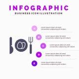 Γεύμα, αυγό, στερεό εικονίδιο Infographics 5 Πάσχας υπόβαθρο παρουσίασης βημάτων ελεύθερη απεικόνιση δικαιώματος