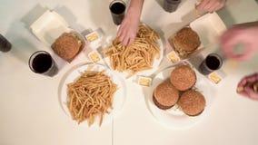 Γεύμα γρήγορου φαγητού απόθεμα βίντεο