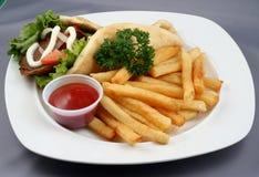 γεύμα γρήγορου φαγητού Στοκ φωτογραφία με δικαίωμα ελεύθερης χρήσης