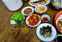 Γεύμα επαρχίας της Ταϊλάνδης Στοκ εικόνες με δικαίωμα ελεύθερης χρήσης