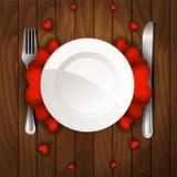 Γεύμα ημέρας βαλεντίνου ελεύθερη απεικόνιση δικαιώματος