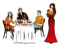 Γεύμα ημέρας των ευχαριστιών ή Χριστουγέννων Στοκ φωτογραφίες με δικαίωμα ελεύθερης χρήσης