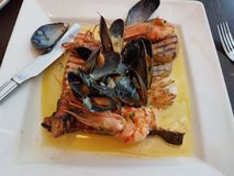 Γεύμα θαλασσινών στοκ φωτογραφίες με δικαίωμα ελεύθερης χρήσης