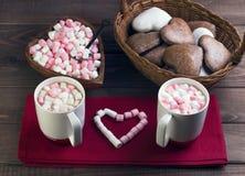 Γεύμα διακοπών ημέρας βαλεντίνου ρομαντικό Στοκ Εικόνα