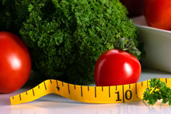 Γεύμα και λαχανικό για να κάνει δίαιτα την έννοια Στοκ εικόνα με δικαίωμα ελεύθερης χρήσης