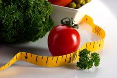 Γεύμα και λαχανικό για να κάνει δίαιτα την έννοια Στοκ Εικόνα