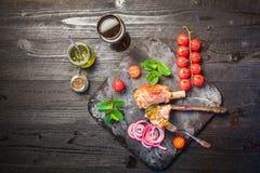 Γεύμα κνημών αρνιών Στοκ Φωτογραφίες