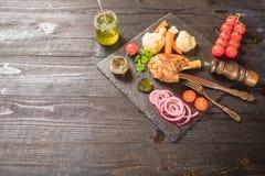 Γεύμα κνημών αρνιών Στοκ φωτογραφία με δικαίωμα ελεύθερης χρήσης