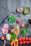 Γεύμα κνημών αρνιών Στοκ Φωτογραφία