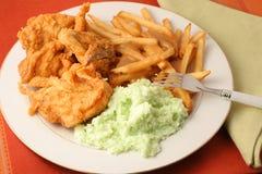 γεύμα κοτόπουλου που τηγανίζεται Στοκ Εικόνες
