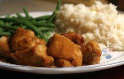 γεύμα κοτόπουλου στοκ φωτογραφία