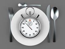 Γεύμα με το χρονόμετρο με διακόπτη ελεύθερη απεικόνιση δικαιώματος