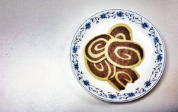 Γεύμα μπισκότων στο πιάτο στοκ φωτογραφία με δικαίωμα ελεύθερης χρήσης