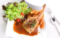 Γεύμα μπριζολών αρνιών Στοκ Εικόνα