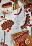 Γεύμα μπριζόλας βόειου κρέατος Στοκ φωτογραφία με δικαίωμα ελεύθερης χρήσης