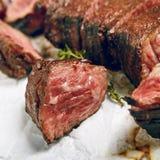 Γεύμα μπριζόλας βόειου κρέατος Στοκ Φωτογραφία