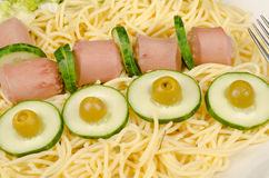 Γεύμα παιδιών για το μεσημεριανό γεύμα Στοκ Φωτογραφία