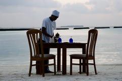 Γεύμα παραλιών - Μαλδίβες Στοκ Εικόνες