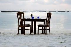 Γεύμα παραλιών - Μαλδίβες Στοκ Φωτογραφία