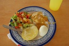 γεύμα περουβιανός στοκ εικόνες με δικαίωμα ελεύθερης χρήσης