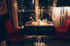 γεύμα ρομαντικά δύο στοκ εικόνα