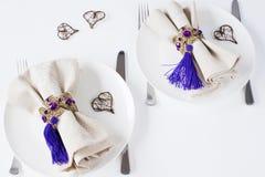 γεύμα ρομαντικά δύο Στοκ Εικόνες