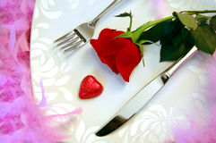 γεύμα ρομαντικό Στοκ Εικόνες