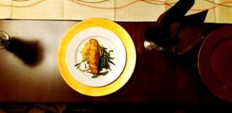 Γεύμα σολομών στοκ εικόνα