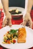 Γεύμα σολομών Στοκ φωτογραφία με δικαίωμα ελεύθερης χρήσης