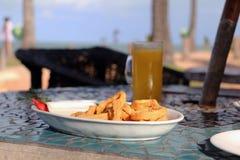 Γεύμα στην παραλία Στοκ Εικόνες