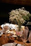 Γεύμα στο εστιατόριο Στοκ εικόνες με δικαίωμα ελεύθερης χρήσης