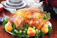 γεύμα Τουρκία Χριστουγέ&nu Στοκ φωτογραφία με δικαίωμα ελεύθερης χρήσης