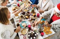 Γεύμα των φίλων Στοκ εικόνες με δικαίωμα ελεύθερης χρήσης