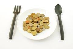 Γεύμα χρημάτων στοκ φωτογραφίες με δικαίωμα ελεύθερης χρήσης