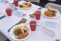 Γεύμα Χριστουγέννων στον πίνακα, Λος Άντζελες, Καλιφόρνια στοκ φωτογραφία με δικαίωμα ελεύθερης χρήσης
