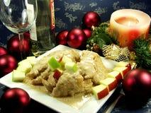 γεύμα Χριστουγέννων Στοκ Εικόνες