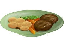 Γεύμα ψητού απεικόνιση αποθεμάτων