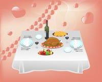 γεύμα δύο Διανυσματική απεικόνιση