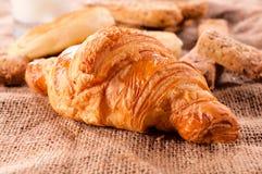 Γεύμα Croissant στοκ φωτογραφία με δικαίωμα ελεύθερης χρήσης