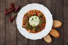 Γεύμα gumbo χοιρινού κρέατος και okra Στοκ εικόνες με δικαίωμα ελεύθερης χρήσης