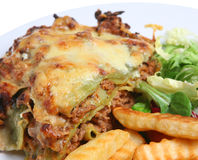 γεύμα lasagna lasagne Στοκ Εικόνα