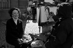 Γελοιογράφος που αποδίδει στην οδό Στοκ φωτογραφία με δικαίωμα ελεύθερης χρήσης
