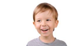 Γελώντας αγόρι 5 έτη Στοκ Φωτογραφία