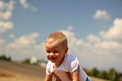 γελώντας μικρό παιδί Στοκ Εικόνα