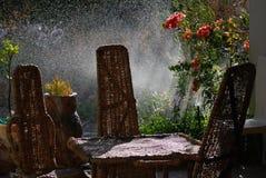 γηγενές patio επίπλων Στοκ φωτογραφία με δικαίωμα ελεύθερης χρήσης