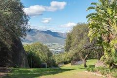 Γηγενής κήπος στο γλωσσικό μνημείο αφρικανολλανδικής σε Paarl στοκ φωτογραφίες με δικαίωμα ελεύθερης χρήσης