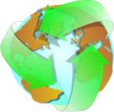 γη ανακύκλωσης Στοκ Εικόνες
